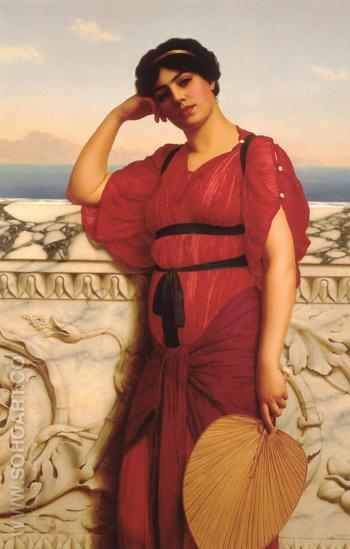 A Classical Lady 1908 - John William Godward reproduction oil painting