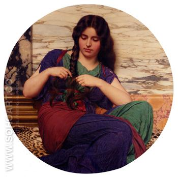 A Congenial Task 1915 - John William Godward reproduction oil painting