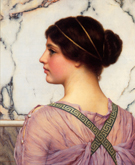 A Grecian Lovely 1909 - John William Godward