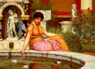 A Lily Pond - John William Godward