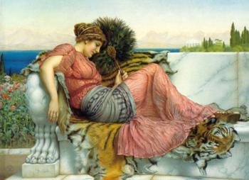 Amaryllis - John William Godward reproduction oil painting