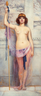 A Priestess 1893 - John William Godward reproduction oil painting