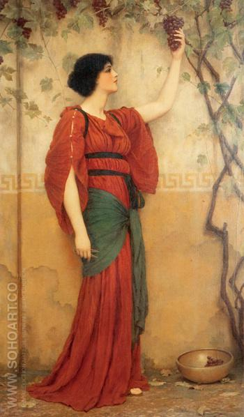 Autumn 1900 - John William Godward reproduction oil painting