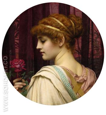 Chloris a Summer Rose - John William Godward reproduction oil painting