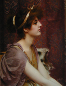 Classical Beauty Cropped - John William Godward