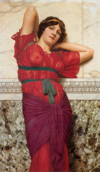Contemplation 1922 - John William Godward reproduction oil painting
