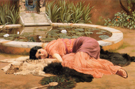 Dolce Far Niente - John William Godward reproduction oil painting