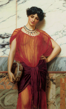 Drusilla 1906 - John William Godward reproduction oil painting