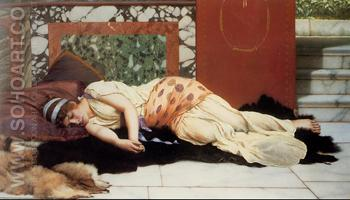 Endimione 1893 - John William Godward reproduction oil painting