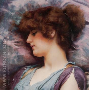 Far Away Thoughts 1892 - John William Godward reproduction oil painting