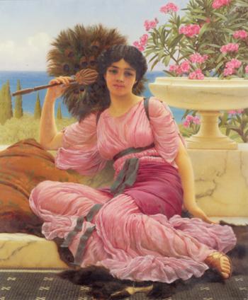 Flabellifere 1905 - John William Godward reproduction oil painting