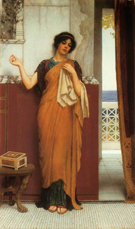 Idle Thoughts 1898 - John William Godward reproduction oil painting