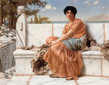In the Day Of Sappho 1904 - John William Godward reproduction oil painting