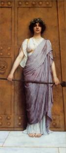 Priestess of Bacchus 1989 - John William Godward