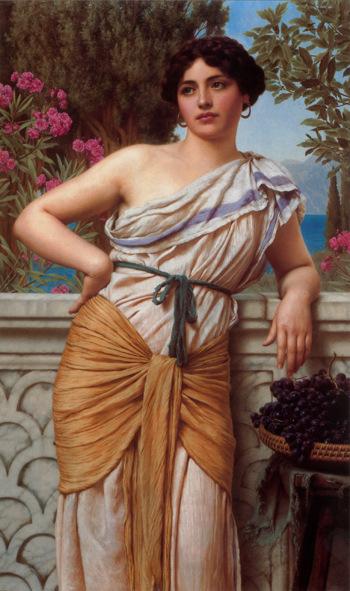 Reverie 1912 - John William Godward reproduction oil painting
