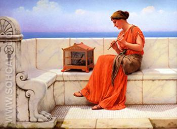 Song without Words - John William Godward reproduction oil painting