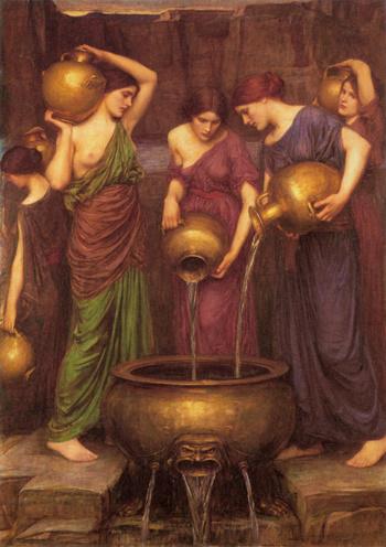 The Danaides 1904 - John William Godward reproduction oil painting