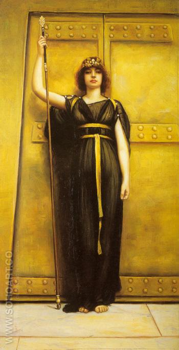 The Priestess 1895 - John William Godward reproduction oil painting