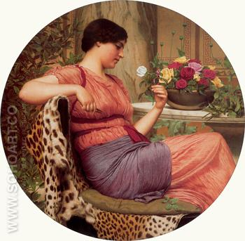 The Time of Roses 1916 - John William Godward reproduction oil painting