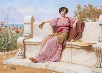Tranquillity 1914 - John William Godward reproduction oil painting