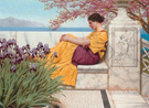 Under The Blossom that Hangs on the Bough 1917 - John William Godward