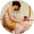 Violets Sweet Violets - John William Godward