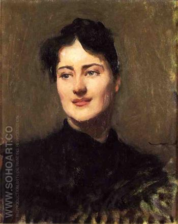 Portrait of a Woman - Dennis Miller Bunker reproduction oil painting