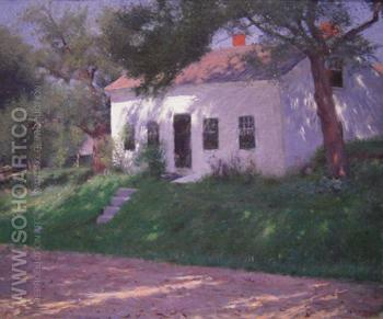 Roadside Cottage 1889 - Dennis Miller Bunker reproduction oil painting