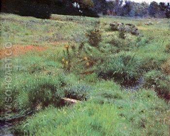 The Brook at Medfield 1889 - Dennis Miller Bunker reproduction oil painting