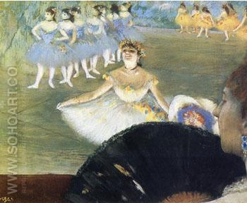 Dancer with Bouquet of Flowers c 1877 - Edgar Degas reproduction oil painting
