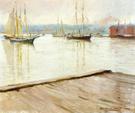 At Gloucester Aka Gloucester Harbor - Joseph de Camp reproduction oil painting
