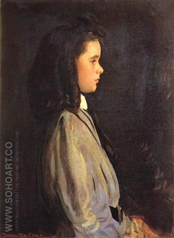 Pauline 1907 - Joseph de Camp reproduction oil painting