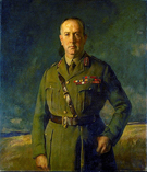 Sir General Arthur William Currie 1920 - Joseph de Camp reproduction oil painting