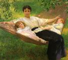 The Hammock - Joseph de Camp reproduction oil painting