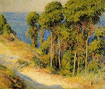Trees along the Coast c1893 - Joseph de Camp reproduction oil painting