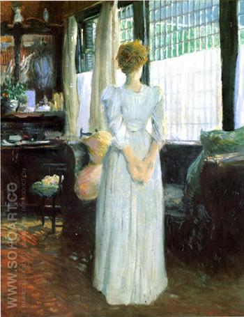 In The Livingroom 1890 - Julian Alden Weir reproduction oil painting