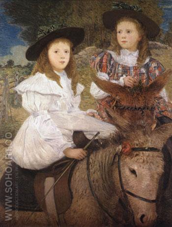 The Donkey Ride - Julian Alden Weir reproduction oil painting