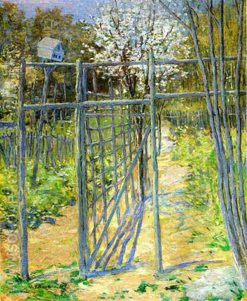 The Grey Trellis 1891 - Julian Alden Weir reproduction oil painting