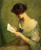 The Letter c1910 - Julian Alden Weir