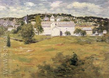 Williamntic Thread Factory 1893 - Julian Alden Weir reproduction oil painting