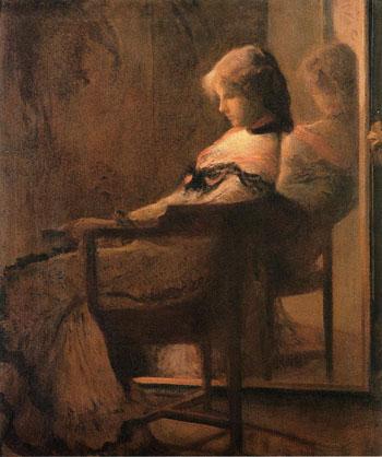 Reflections c1901 - Joseph de Camp reproduction oil painting