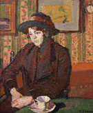 Girl with a Tea Cup c1914 - Harold Gilman reproduction oil painting