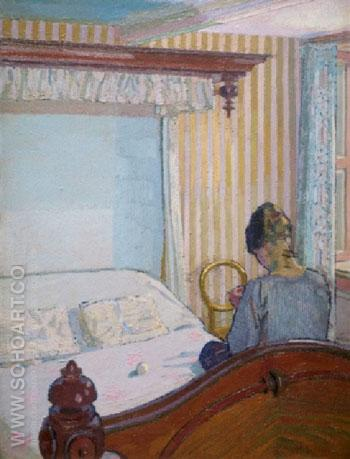Interior c1917 - Harold Gilman reproduction oil painting