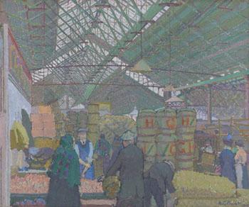 Leeds Market c1913 - Harold Gilman reproduction oil painting
