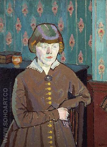 Miss Ruth Doggett c1915 - Harold Gilman reproduction oil painting