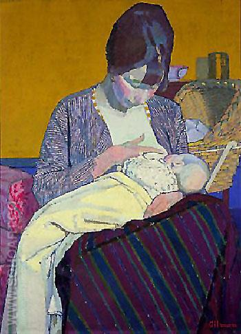 Mother and Child 1918 - Harold Gilman reproduction oil painting
