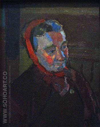Mrs Mounter c1916 - Harold Gilman reproduction oil painting