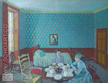 Tea in the Bedsitter - Harold Gilman reproduction oil painting