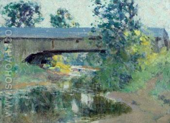 Covered Bridge Berthier Que - William Henry Clapp reproduction oil painting