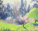 Garden with Eucalyptus Trees - William Henry Clapp